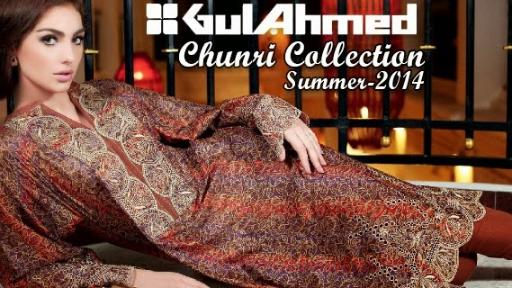 Latest Gul Ahmed Chunri Lawn Collection 2014