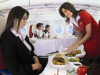 Kingfisher Airlines Domestic First Class Service