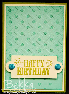 You're Amazing Birthday Card by Stampin' Up! Demonstrator Bekka Prideaux - check out her Happy Mail Challenge - who would you send a card to?