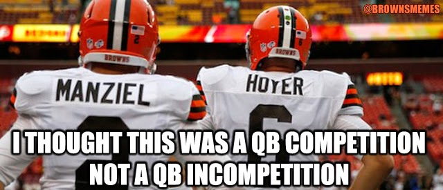 Johnny Manziel and Brian Hoyer Cleveland Browns Memes