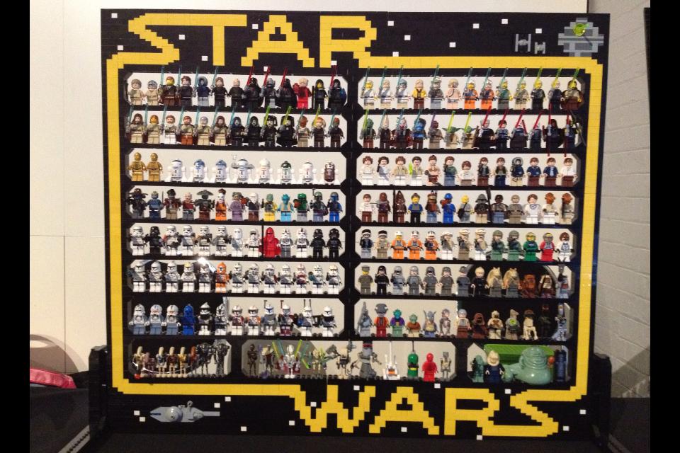 Lego Minifigure Display Case Frame Star Wars