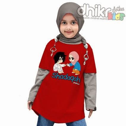 Model Kaos Muslim Anak Perempuan Terbaru 2015