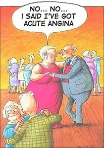 Funny acute angina cartoon joke picture