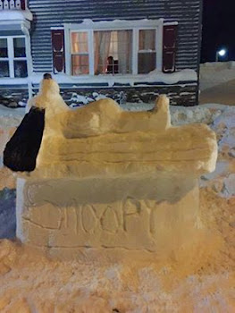 Snow Sculpture in Carthage