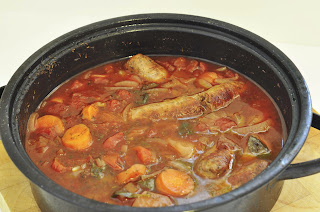 Sausage and Tomato Casserole ~ Simple Food