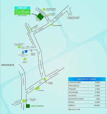 omaxe parkwood baddi location map