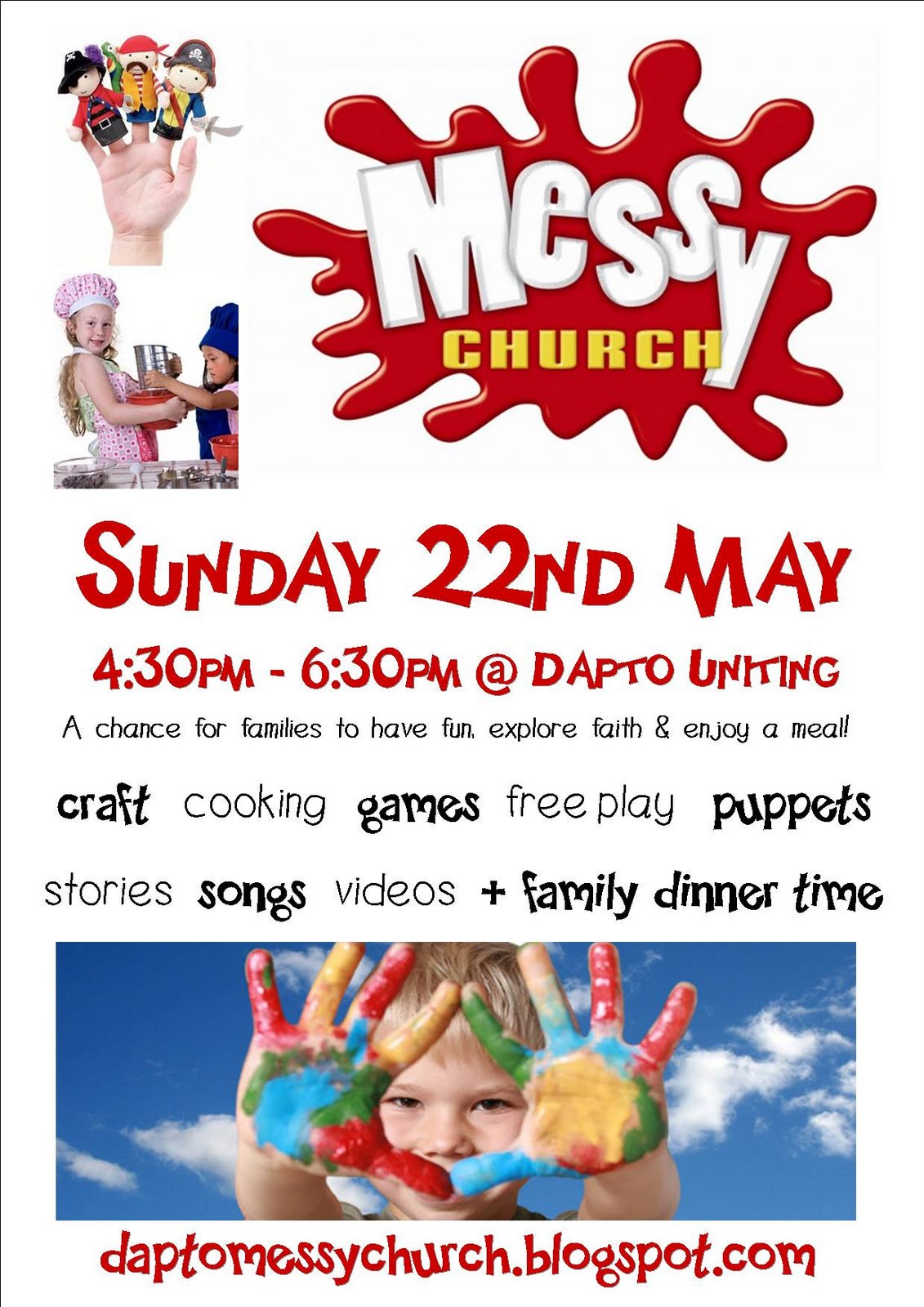 messy church dapto uniting invite your family and friends messy church flyer draft 2 jpg