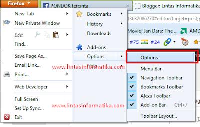 Cara Mengatur Halaman Awal (HomePage) Mozilla Firefox