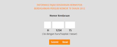 cara cek pajak kendaraan online jawa tengah