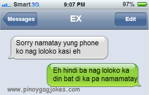 mag syota dati nag loko ang cellphone pinoy text fail