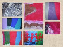 Montagem das pinturas de Filipe feita por Elaine Dellatorrente.