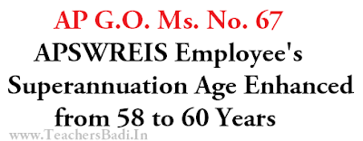 GO.67, APSWREIS Employee's, Reiterment Superannuation Age