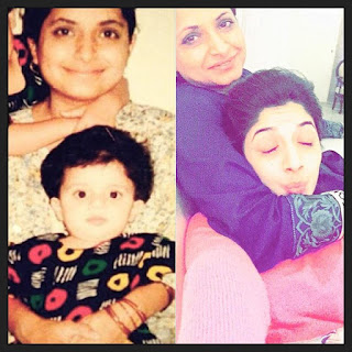 Mawra hocane with her mother Mawra hocane chilhoood pic