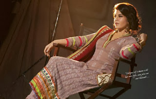 Jacqueline Fernandez is seen here modelling for a salwar kameez brand