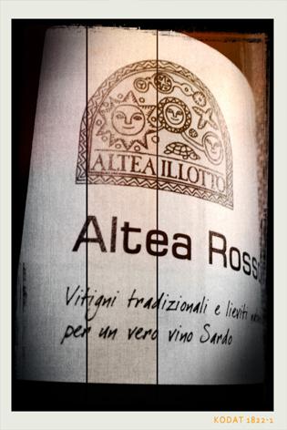 ALTEA ROSSO 2012 - Sibiola I.G.T. - Altea Illotto