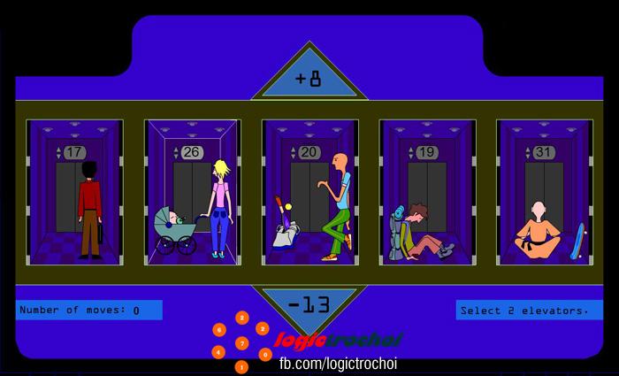 flash game, tư duy, logic, IQ, thang máy