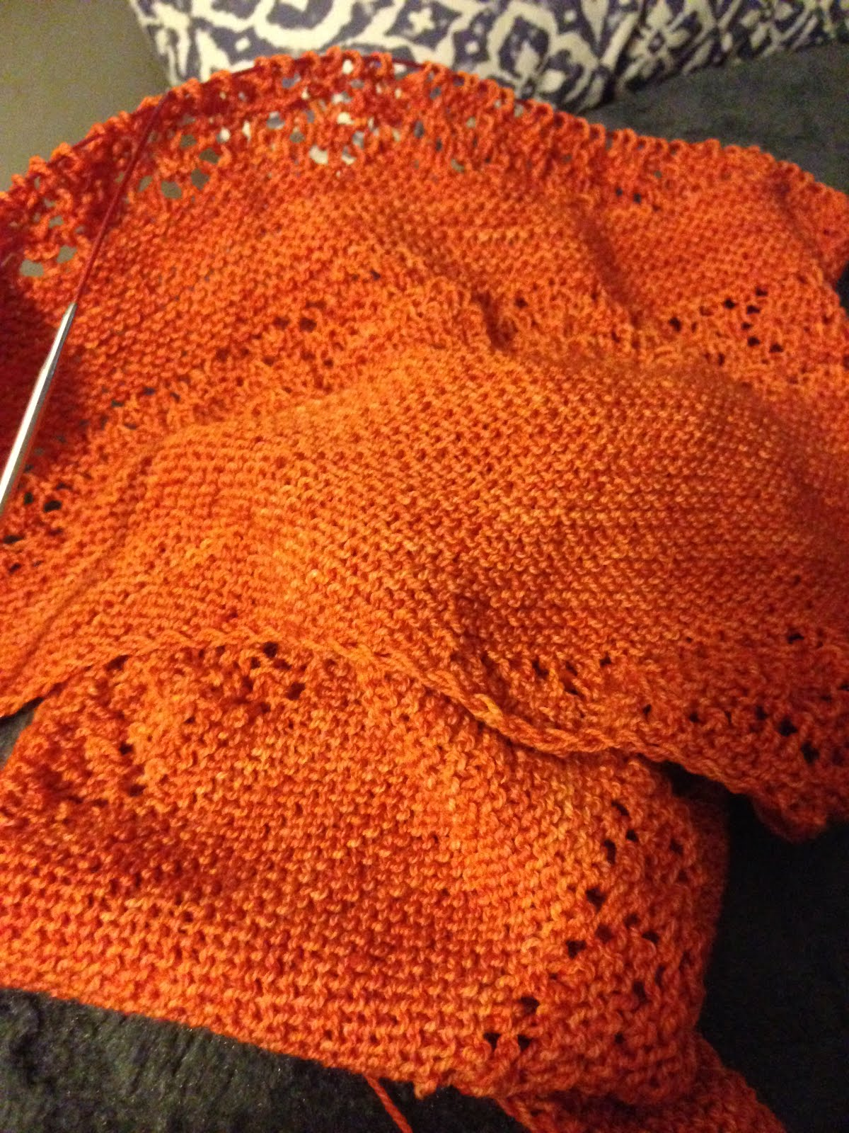 Pointless Hitchhicker Shawl