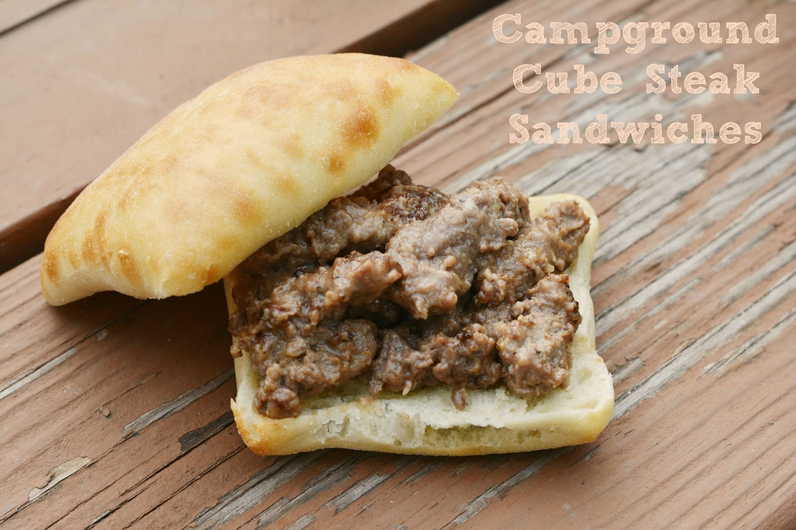 Delicious recipe for campground cube steak sandwiches. #recipe #camping