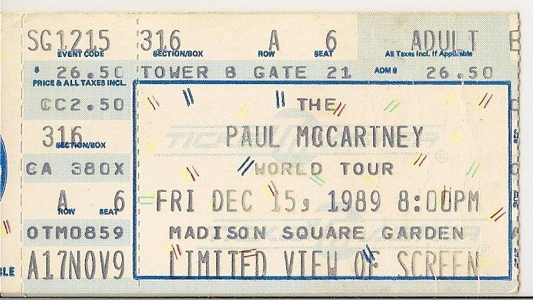 Rock on vinyl paul mccartney live unapproved 1993 bootleg - Paul mccartney madison square garden tickets ...