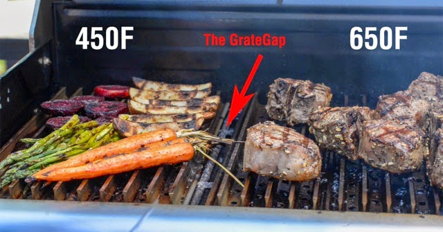 2 zone grilling with GrillGrate