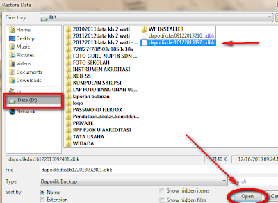 aplikasi dapodik helper untuk back up dan mengembalikan database dapodik
