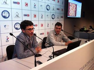 Laurent Fressinet bat le tsar des échecs Vladimir Kramnik © Chess & Strategy