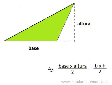 Como calcular a área de um triângulo
