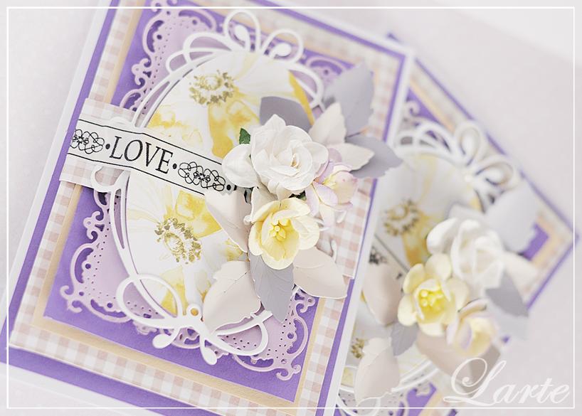 kartka, życzenia, kartka urodzinowa, urodziny, kwiaty, prezent, card, handmade, scrapbooking, larte, larteblog