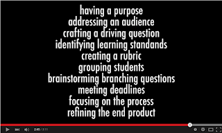 """Screen Capture of Youtube Video """"Project-Based Learning for Teachers"""""""
