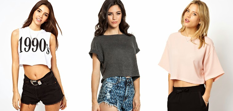 Crop tops loose tee