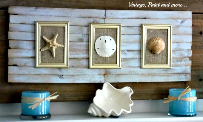 Vintage, Paint and more... making are from seashells and shims