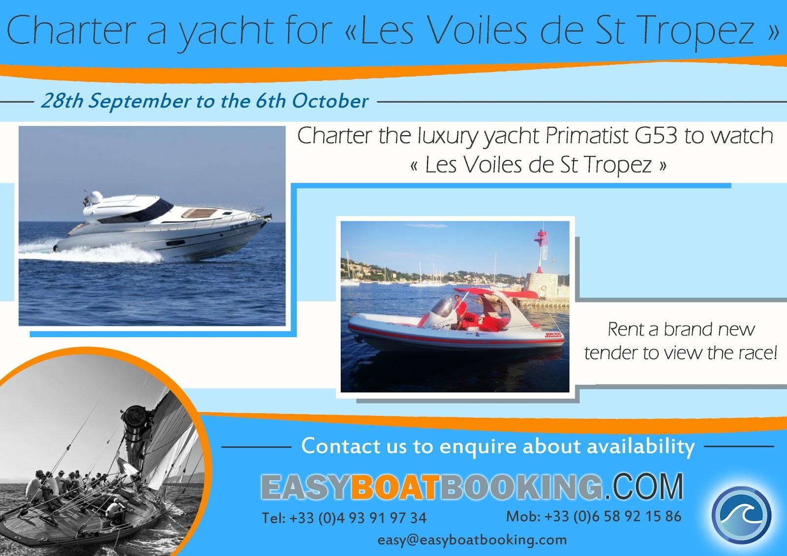 Les Voiles de St Tropez boat rental