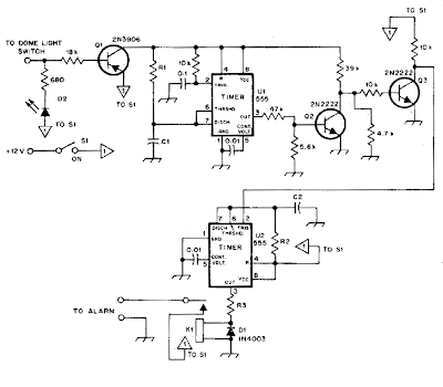 Automotive Alarm Circuit Diagram