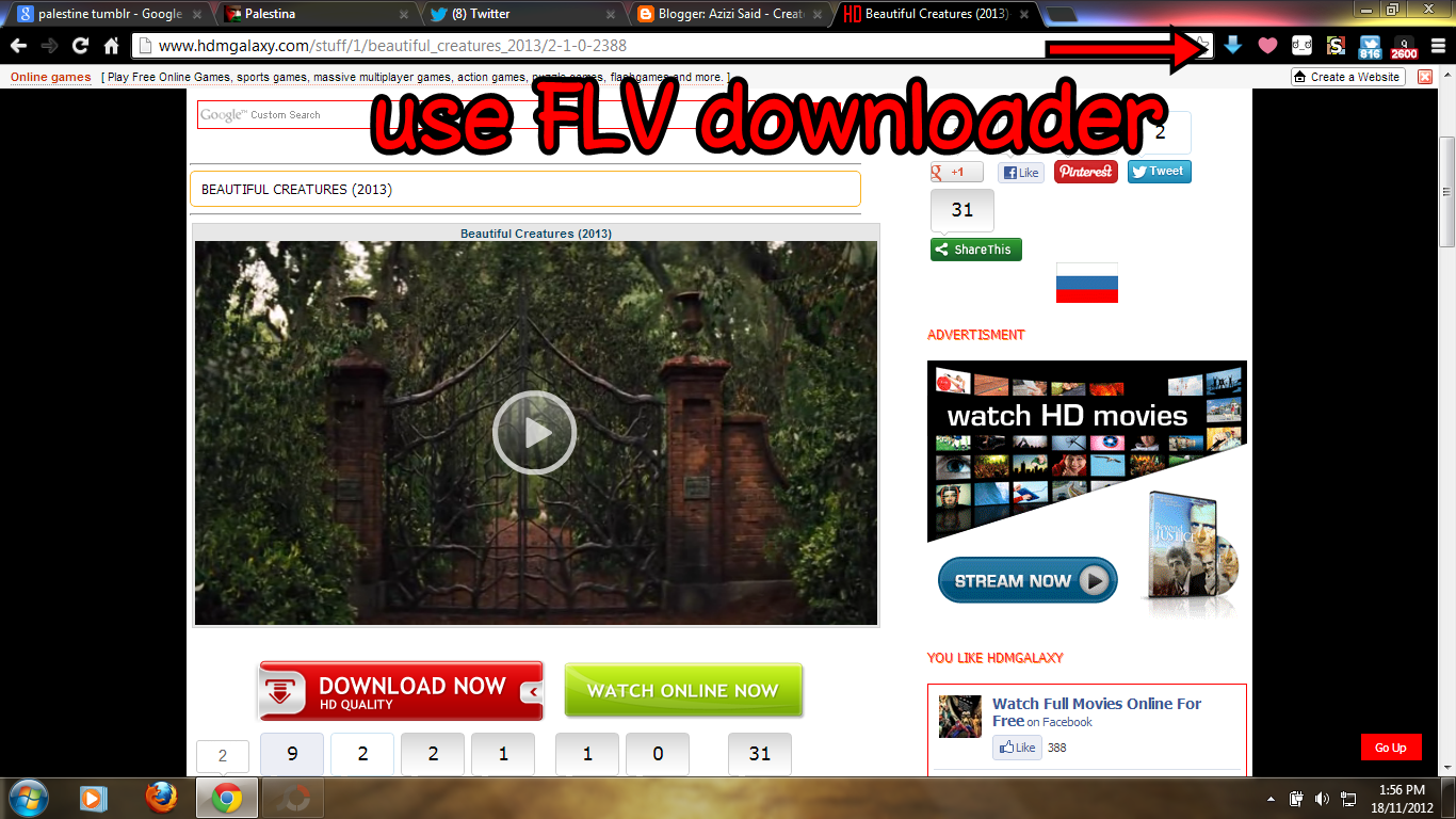 downloader untuk download video dari youtube atau mana mana website