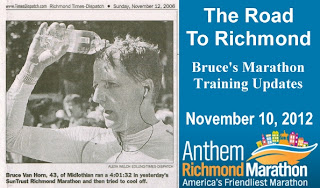 Bruce Van Horn trains for Richmond Marathon