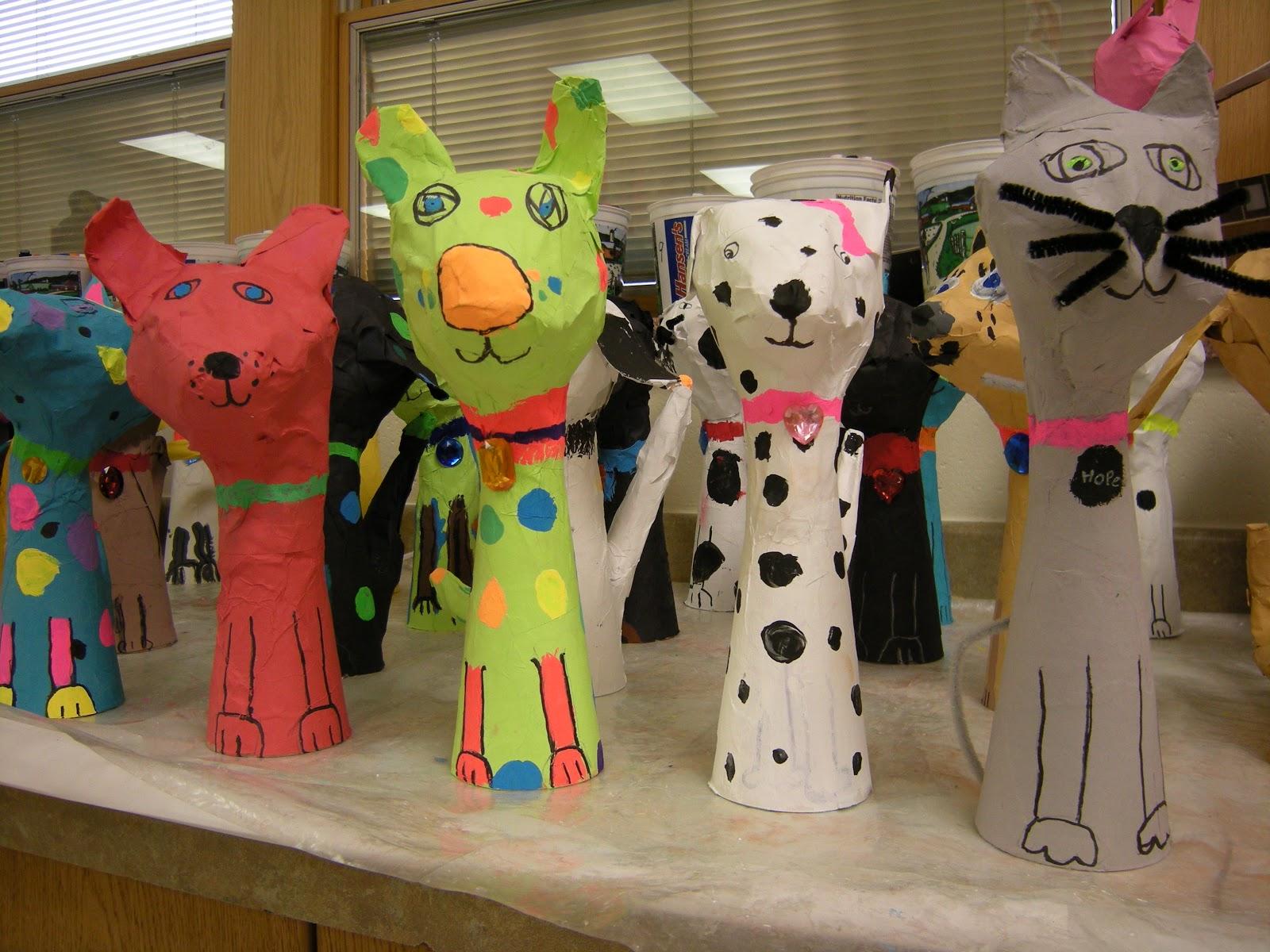 Artolazzi papier mache pets for Paper mache art and craft
