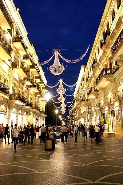 Nizami Street is one of the architectural and historic areas in Baku