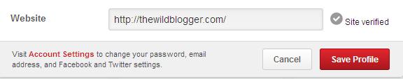 Website verfied