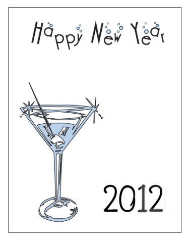 graphic regarding Printable New Years Cards referred to as Fresh Yr Playing cards