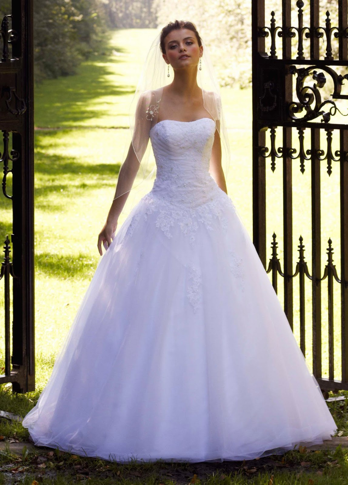 davids bridal wedding dress 2012 collectionstrapless tulle ball gown