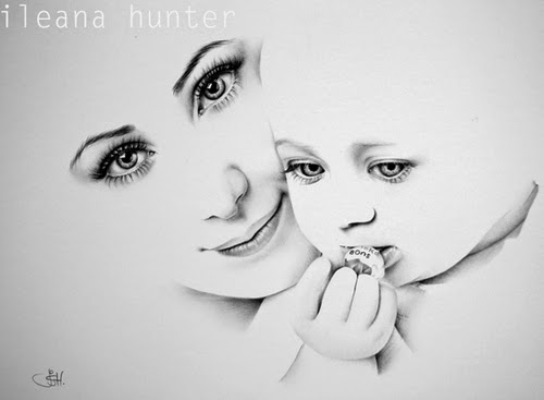 13-Daniela-and-Sara-Ileana-Hunter-Recognise-Portrait-Drawings-Detail-www-designstack-co