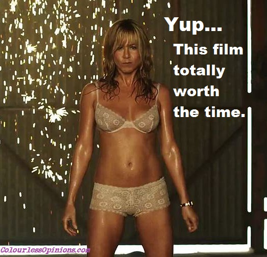 Jennifer Aniston strips in We're the Millers movie still meme