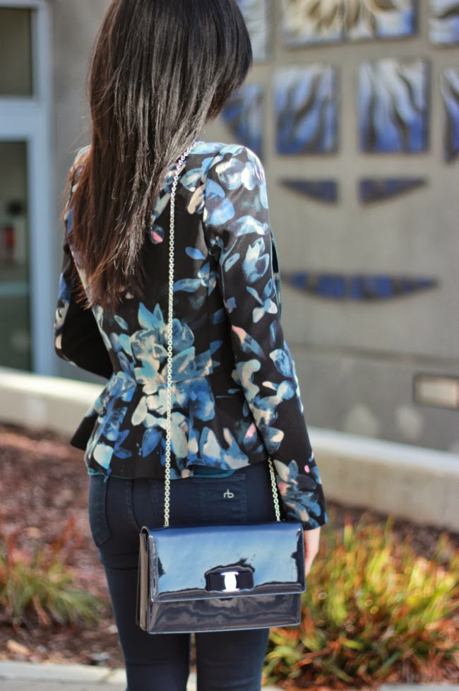 how to wear dark florals for fall