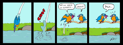 Tira cómica Martín pescador