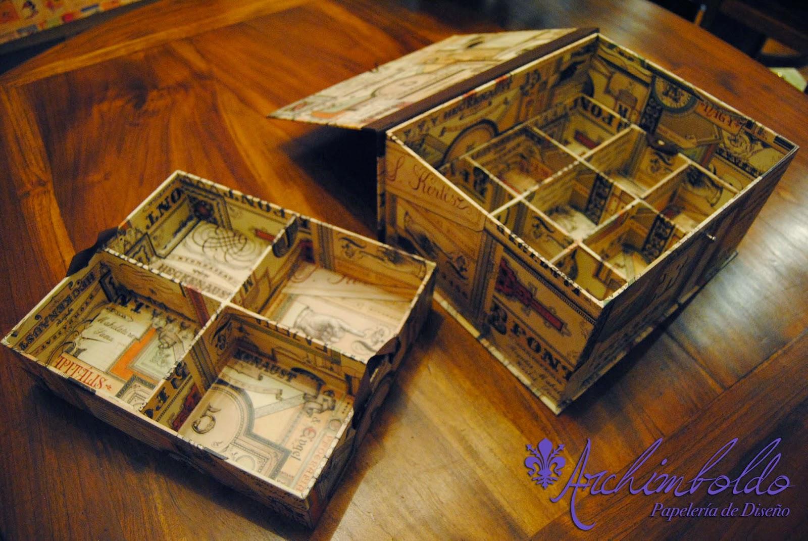 caja cartonage