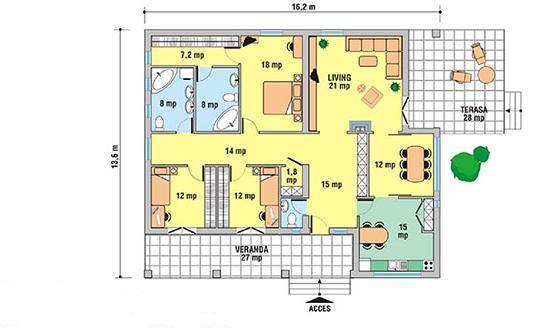 Planos de casas modelos y dise os de casas planos de - Plano casa de campo ...