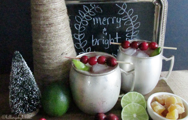 Festive Cranberry Moscow Mules