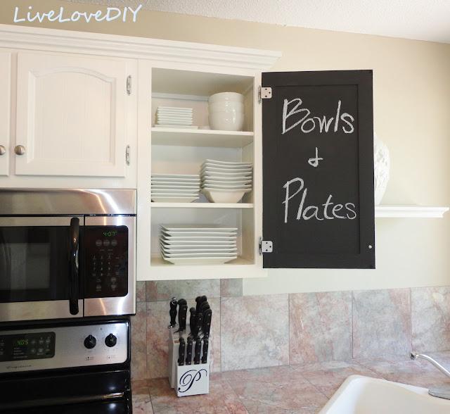Chalkboard paint cabinets