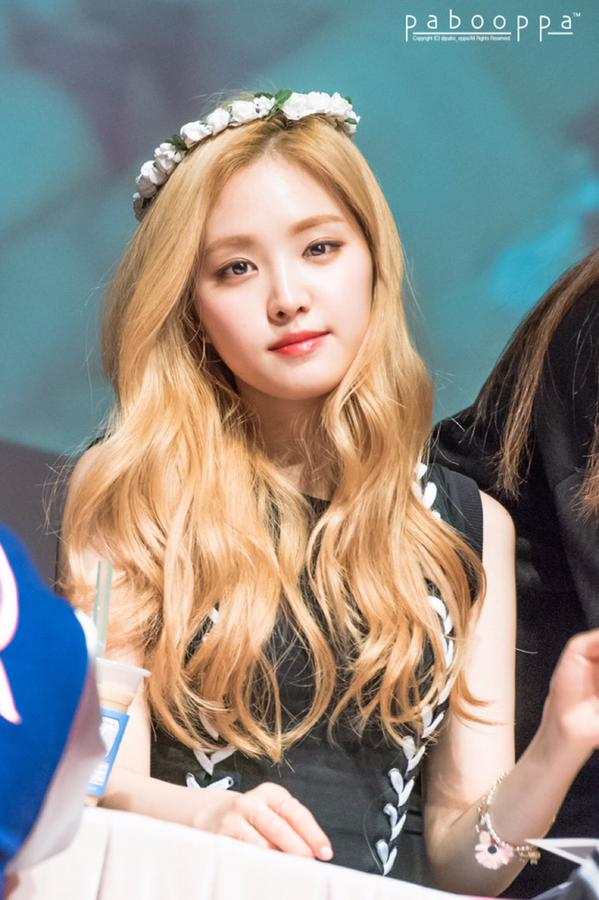 Pict 10 Cute Recent Photos Of Blonde Hair Naeun Pojok