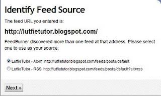 rss atom feedburner